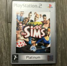 The Sims Sony PlayStation 2 PS2 Game Platinum Version PAL Used US Seller