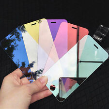 Mirror Tempered Glass Film Screen Protector For iPhone X Ten 6 6S 7 8 Plus