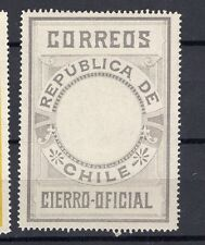 CHILE 1900 Seal MLH no official printing perforated gray