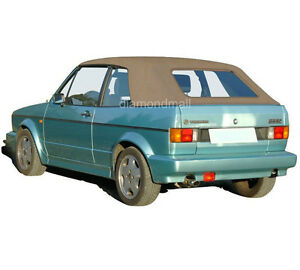 VW Volkswagen Rabbit Cabriolet Golf 1980-1994 Convertible Soft Top Tan German