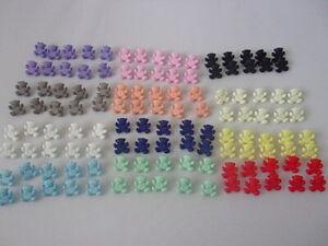 10 Cute Teddy Bear Novelty Shank Buttons 16mm Baby Children Choice Of Colour