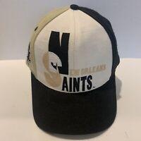 Vintage 90s New Orleans Saints  AJD Cap Pro Line Snapback Hat Cap NFL