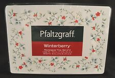 PFALTZGRAFF WINTERBERRY Cake Tins Rectangular Nested Set/2 Holiday Christmas New