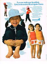 PUBLICITE  1970  OZONA  vetements enfants