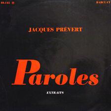 JACQUES PREVERT Paroles Extraits A Maurice Magne Lai FR Press Barclay 80 145 LP