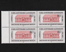 1982 germany Berlin Sc#9N479 Mi#684 Margin Block of 4 Mint Never Hinged