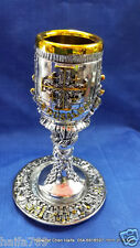Silver plated Holy grail Jerusalem cross and last supper a gift from Jerusalem