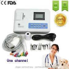 Para Veterinaria Portátil 1 canal 12 plomos ECG/EKG máquina, impresora y papel, animal