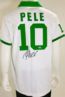 Cosmos Pele Autographed Soccer Jersey - PSA/DNA COA Signed