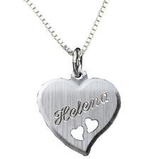 Herz Anhänger mit Kette mit Gravur Silber 925    a 46