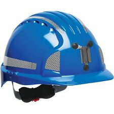 JSP Cap Style Mining Hard Hat with 6 Point Ratchet Suspension, Blue