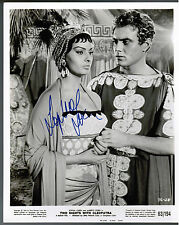 SOPHIA LOREN ORIGINAL 1963 SIGNED AUTOGRAPH PRESS PHOTO 2 NIGHTS WITH CLEOPATRA