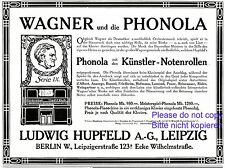 Merchandise & Memorabilia Collectibles Shop For Cheap Self Playing Piano Phonola German Ad 1907 Hupfeld Leipzig Richard Wagner