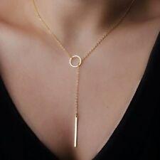 Simple Moderno Abstracto Aro De Oro Moda Collar Cadena Colgante Aleación Reino Unido 3FOR2
