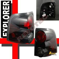 02-05 Ford Explorer XLT XLS Eddie Bauer 4Dr SUV Black Tail Lights Lamps