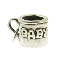 925 Sterling Silver Baby Cup Charm Made in the US