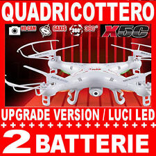 SYMA X5C QUADRICOTTERO RC DRONE 2,4 GHz TELECAMERA HD, LED, 2 batterie, SD