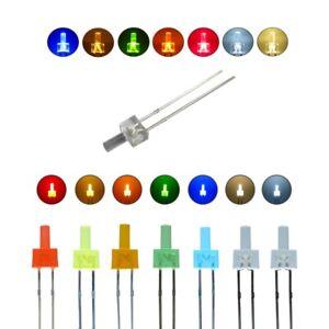 LED 2mm Torre Diffus E Chiaro Leds Lungo Testa 7 Colori, Quantità Set Selezione