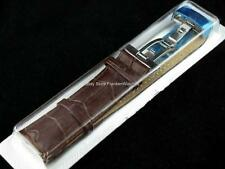 Brown Leather Band Strap Bracelet Buckle Clasp Fit Longines Watch 18mm 20mm 22mm