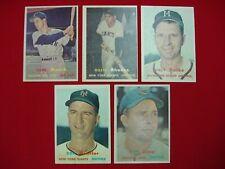 1957 TOPPS BASEBALL 5 CARD LOT (NM BOOKS @ $85) *HAVE A L@@K*