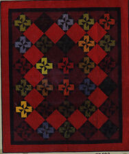CLEARANCE   -  Red Windmills -  stylish pieced quilt PATTERN - 3 options