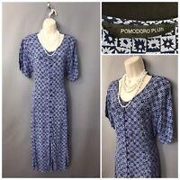 Pomodoro Desert Button Through  Mango  Dress 12021 100/%Linen