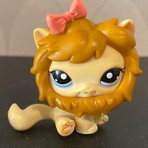 Authentic Littlest Pet Shop #1005 Cream sitting shorthair cat lion