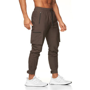 Mens Sweatpants Baggy Pants Joggers Training Sports Camouflage Cargo Trousers