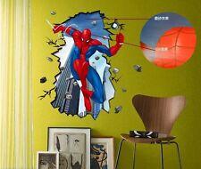 1PC AMAZING SPIDERMAN Wall Stickers Boys Kids Bedroom Mural Art Wallpaper Decal