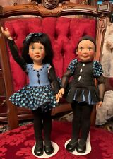 Helen Kish Vinyl Dolls Blue Pierrot And Blue Pierret