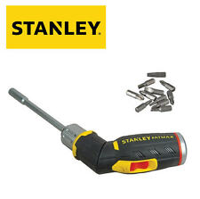 Stanley Destornillador Carraca Empuñadura de Pistola Mango 0.6cm Portabrocas+