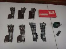 SEVEN HORNBY POINTS, POINT SWITCHES & POINT MOTOR MODEL RAILWAY OO GAUGE
