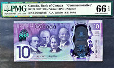 Canada 2017 Commemorative Polymer $10 BC-75 GEM UNC PMG 66 EPQ
