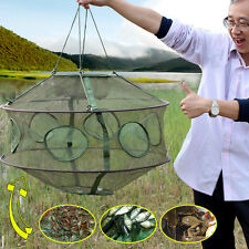 Fast Folding Fishing Nets Portable Fish Shrimp Minnow Crab Baits Cast Mesh Net