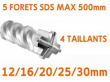 5 FORET MECHE BETON SDS MAX 500mm 4 TAILLANTS 12/16/20/25/30mm