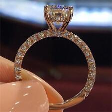 Female Engagement Trendy Crystal Rings Bride Wedding Charming Presents Jewellery