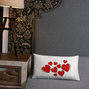 Red Hearts Valentine's Day Home Decor Pillow