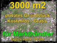 kostenloses Grundstück 3000m2 für mobile Markthändler