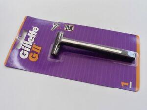 GILLETTE G2, Original GII Rasierer TRAC 2 TWIN BLADE Metal Razor Rasierklingen