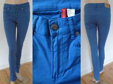 H&M Jeans Hose Girl Tube Super Skinny Stretch Colorblocking blau Gr 40 Top