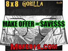 """(NEW) 8 x 8 Gorilla Grow Tent   12"""" Extension - IR Blocker   NOT Gorilla LITE"""