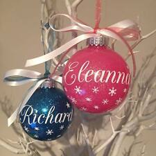 Set of Two Personalised Christmas Bauble Ornaments 2