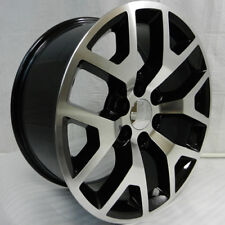 "4 NEW 26"" GMC replica Wheels Black & Machined Chevy Silverado Sierra y spoke 26s"