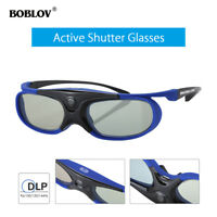 3D Active Shutter Glasses DLP-Link USB Blue For BenQ W1070 W700 MS506 Projector