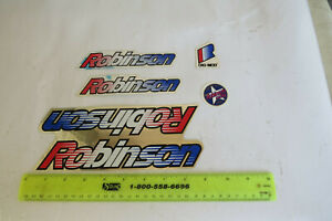 REAL ROBINSON DECALS BMX BICYCLE RACING RARE VINTAGE STICKERS NOS
