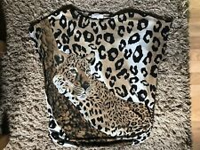Cameo Rose Ladies Womens Baggy Style Leopard Print Top Size Medium/Large