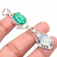 "Jewelry Pendant 1.97"" g468 Rainbow Moonstone Gemstone Handmade Gift"