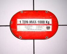 "COLUMBUS McKINNON ""ONE-TON MAX 1000 KG"" HOIST 12.57.5x4""  COVER PLATE #35201, VG"