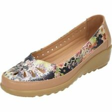 Wedge Synthetic Leather Floral Heels for Women