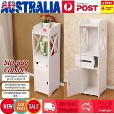 Bathroom Storage Cabinet Toilet Shelf Organizer Standing Rack Cupboard Holder